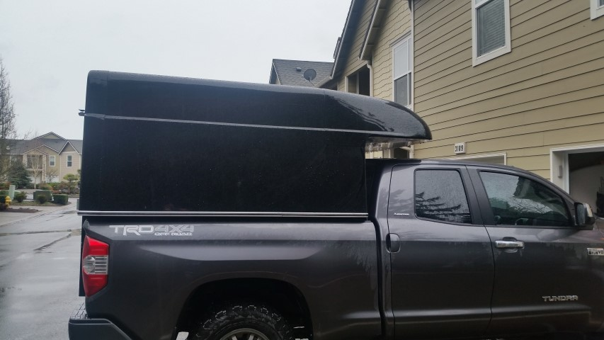 Fiberglass Camper Tops : Tufport t fiberglass shell cabover fully enclosed